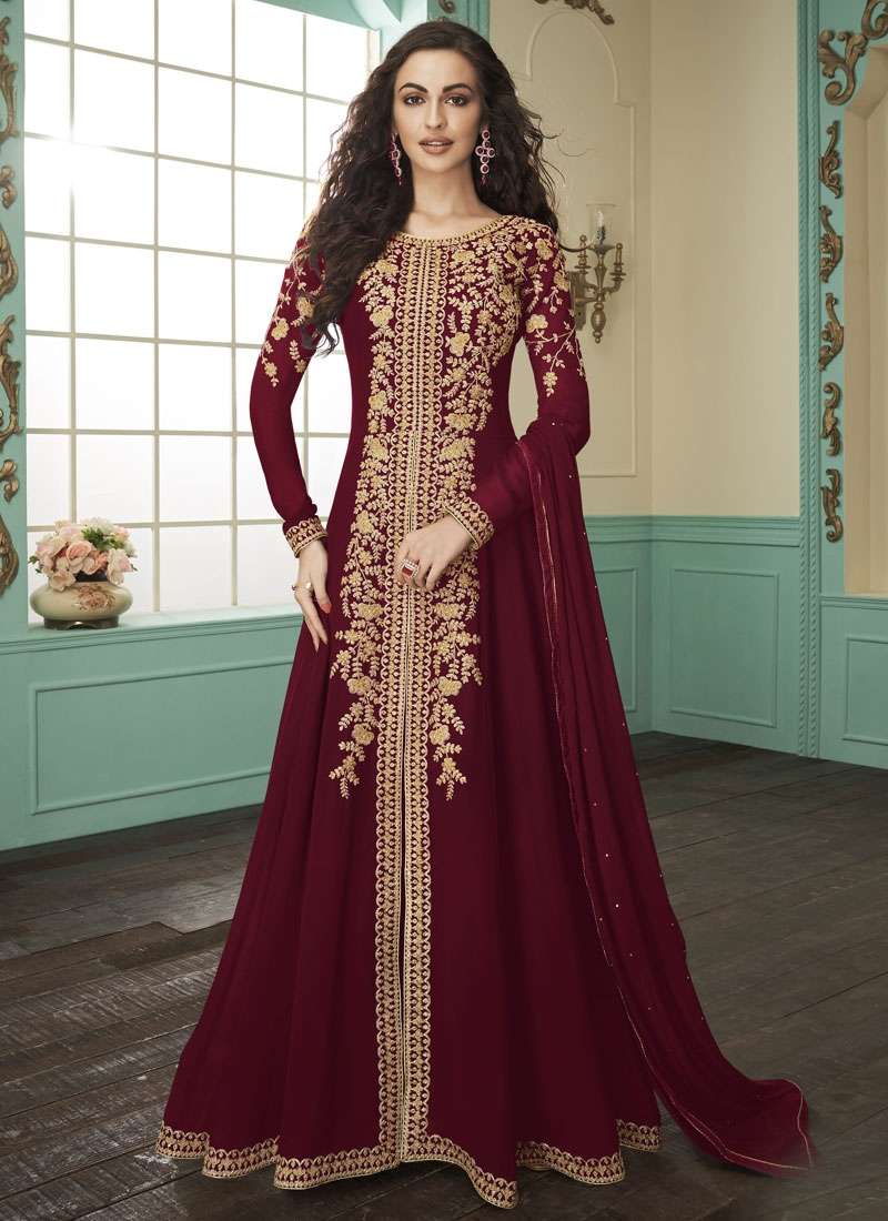 Floor Length Designer Suit For Party