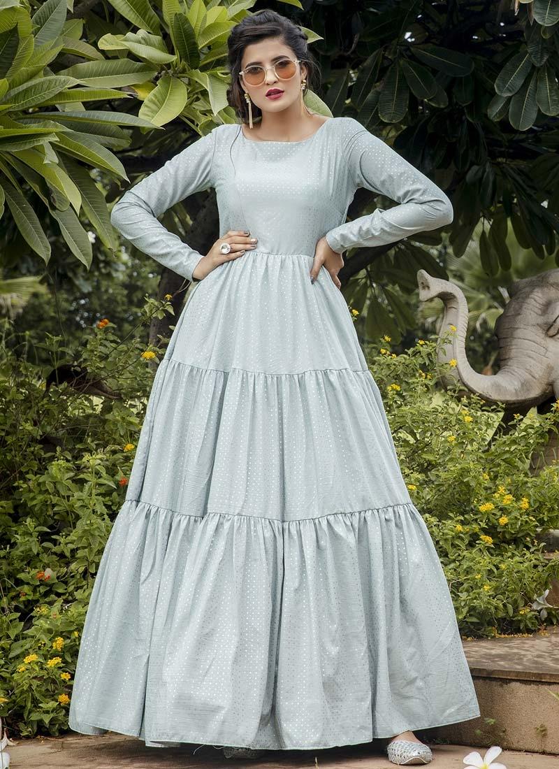 Floor Length Trendy Gown
