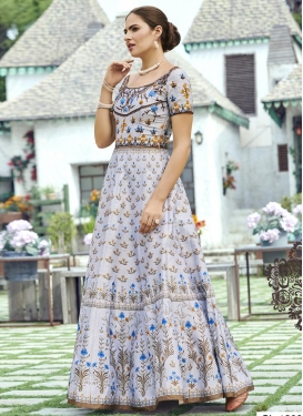 Floor Length Trendy Gown