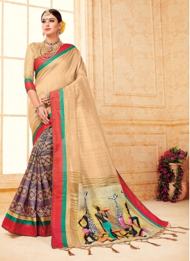 Floral Art Silk Party Traditional Saree