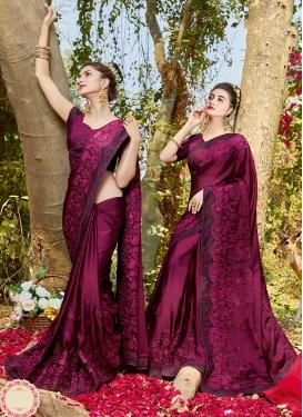 Floral Embroidered Ceremonial Classic Designer Saree