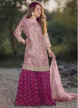 Fuchsia and Pink Sharara Salwar Suit