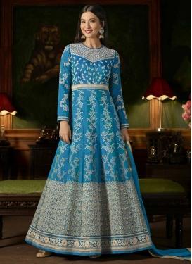 Gauhar Khan Art Silk Floor Length Anarkali Salwar Suit For Festival