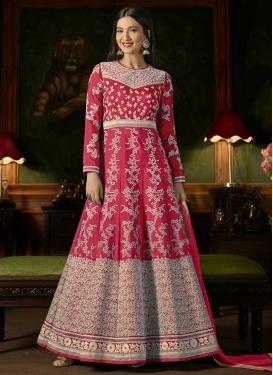 Gauhar Khan Art Silk Long Length Designer Anarkali Suit