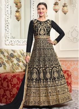 Gauhar Khan Booti Work Anarkali Salwar Suit