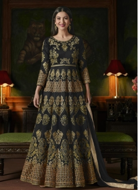 Gauhar Khan Booti Work Floor Length Anarkali Suit