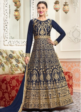 Gauhar Khan Booti Work Long Length Anarkali Suit