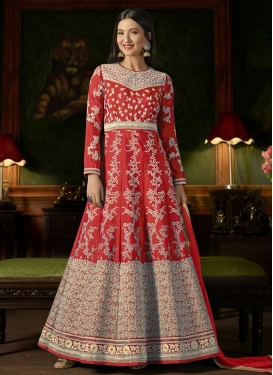 Gauhar Khan Embroidered Work Long Length Designer Suit