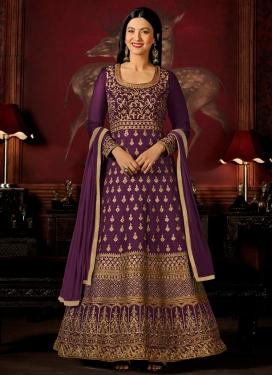 Gauhar Khan Faux Georgette Long Length Anarkali Suit