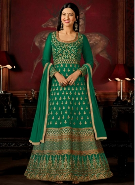 Gauhar Khan Faux Georgette Trendy Anarkali Salwar Suit