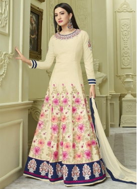 Gauhar Khan Silk Long Length Salwar Kameez For Festival