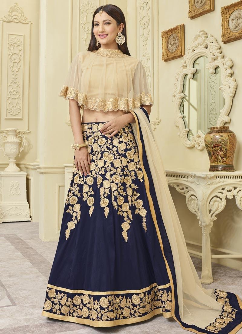 Gauhar Khan Trendy Designer Lehenga Choli For Ceremonial