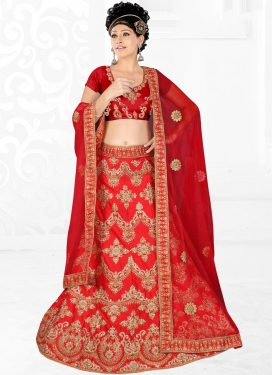 Genius Red Trendy Lehenga Choli