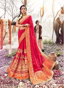 Georgette Classic Saree in Rose Pink