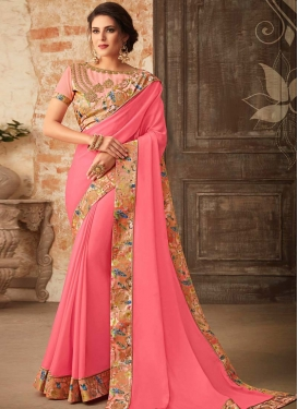 Georgette Contemporary Style Saree For Ceremonial