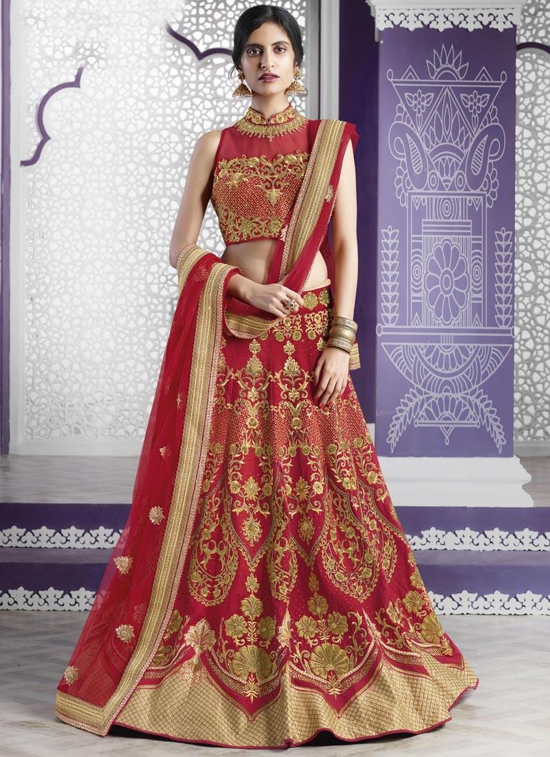 Gilded Crystal Work Designer Classic Lehenga Choli For Bridal