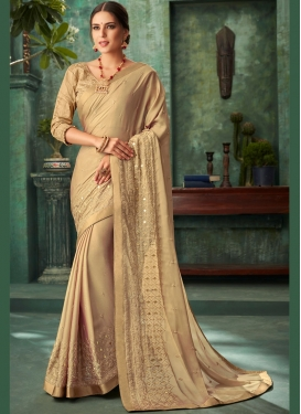Girlish Faux Georgette Designer Traditional Saree