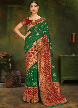 Glamorous Weaving Art Silk Traditional Saree