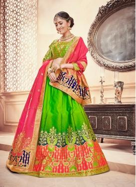 Glitzy Art Silk Designer Lehenga Choli