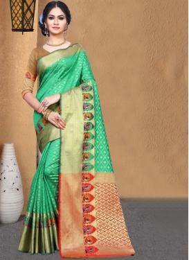 Glossy Art Silk Casual Saree
