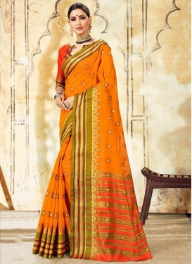 Glossy Woven Traditional Saree