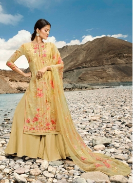 Glowing Gold Festival Designer Pakistani Suit