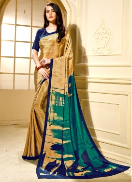 Gold Printed Trendy Saree
