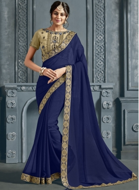 Gorgonize Faux Chiffon Trendy Saree