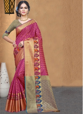 Gorgonize Weaving Casual Saree