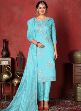 Gota Patti Work Pant Style Salwar Kameez