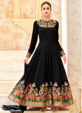 Graceful Embroidered Work Pure Georgette Anarkali Salwar Kameez