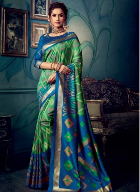 Green and Navy Blue Designer Traditional Saree