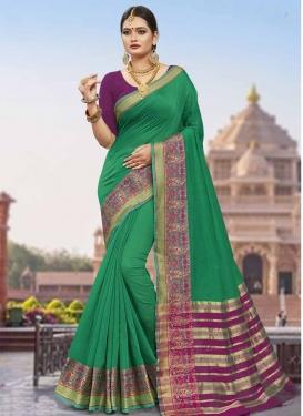 Green and Purple Art Silk Designer Traditional Saree