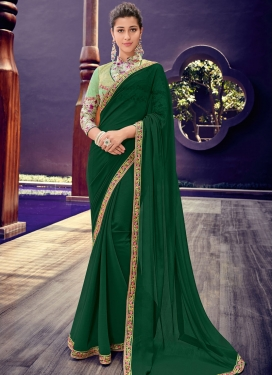 Green Border Trendy Saree