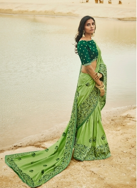 Green Patch Border Designer Traditional Saree