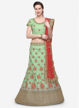 Grey and Mint Green Trendy Lehenga Choli
