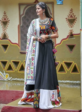 Grey and White Designer Classic Lehenga Choli