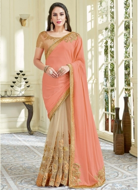 Half N Half Trendy Saree For Ceremonial