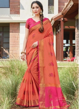 Handloom Cotton Contemporary Style Saree