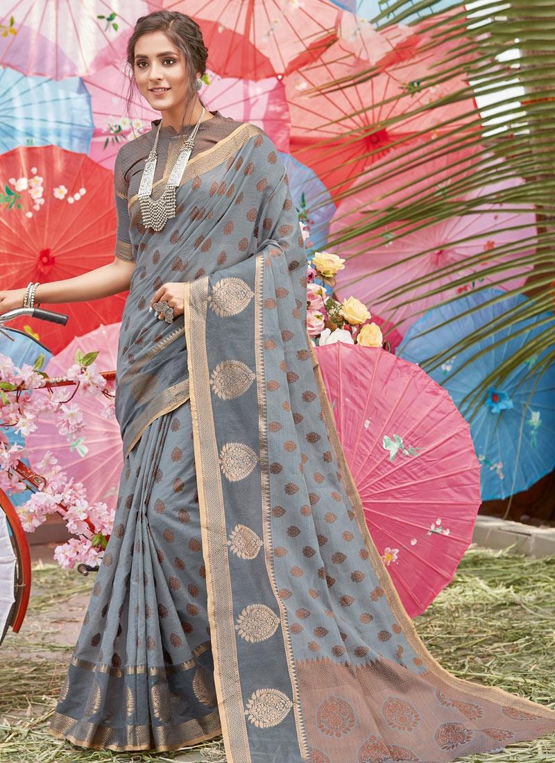 Handloom Cotton Designer Contemporary Saree