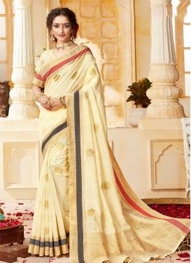 Handloom Cotton Designer Contemporary Saree For Ceremonial