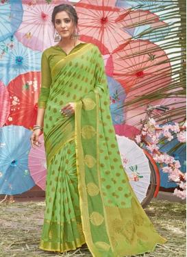 Handloom Cotton Designer Contemporary Style Saree