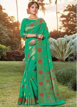 Handloom Cotton Traditional Designer Saree