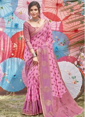 Handloom Cotton Trendy Classic Saree