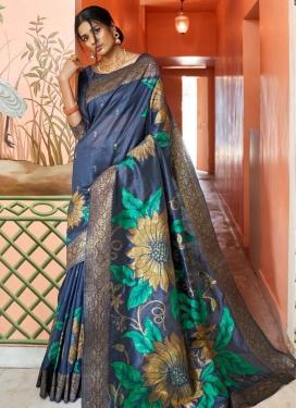 Handloom Silk Designer Contemporary Saree