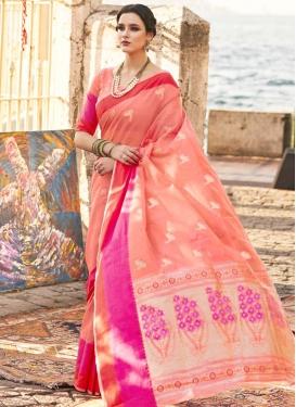 Handloom Silk Designer Contemporary Saree For Festival