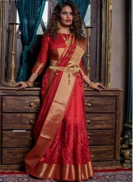 Handloom Silk Embroidered Work Traditional Designer Saree