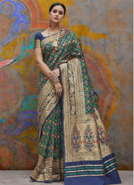 Handloom Silk Thread Work Traditional Designer Saree