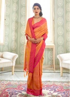 Handloom Silk Woven Work Contemporary Style Saree