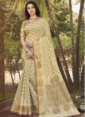 Handloom Silk Woven Work Trendy Classic Saree